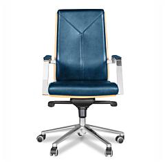 "Bürostuhl / Chefsessel ""Georgia"" - blau"